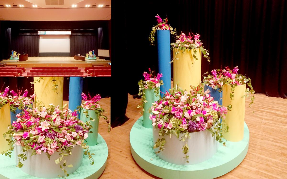 舞台上装花2
